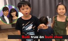 Các nhóc tỳ nhà Lý Hải thích thú với trào lưu '10 giây xắn tay'