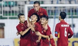 Cầu thủ U19 Việt Nam ghi tuyệt phẩm vào lưới Uruguay