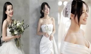 Váy cưới của Nhã Phương làm từ vải satin Pháp, Italy cao cấp