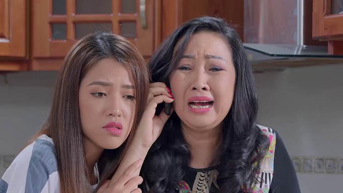 Thiên Hương vào vai mẹ chồng còn Puka vào vai em chồng đáng ghét của Hương (Lê Phương) trong phim.
