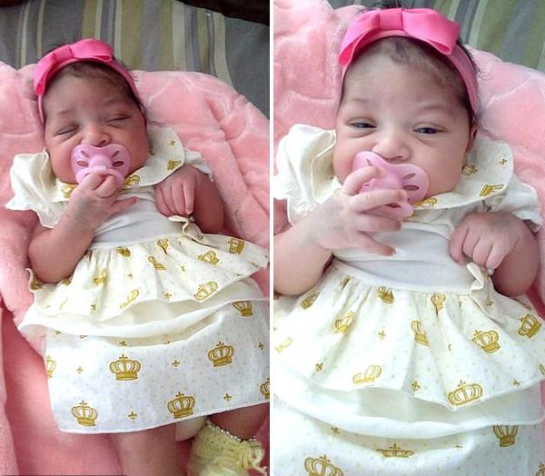 Bé Sofia (hiện 3 tuần tuổi) khỏe mạnh hoàn toàn sau khi bi bọ cạp độc cắn 7 phát. Ảnh: Carter News Agency.