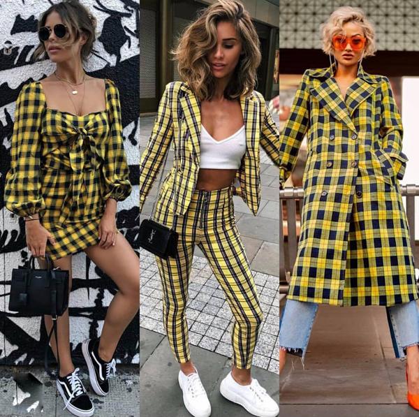 Không chỉ bó hẹp trong phạm vi của suit và vest, vải in họa tiết hợp mùa biến hóa ấn tượng trên nhiều kiểu dáng trang phục như váy vạt quấn, chân váy thắt eo, đầm liền thân&