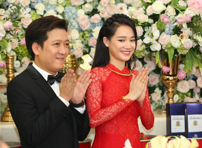 Trường Giang - Nhã Phương hạnh phúc trong ngày trọng đại.