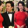 Trường Giang nựng má Nhã Phương trong đám cưới
