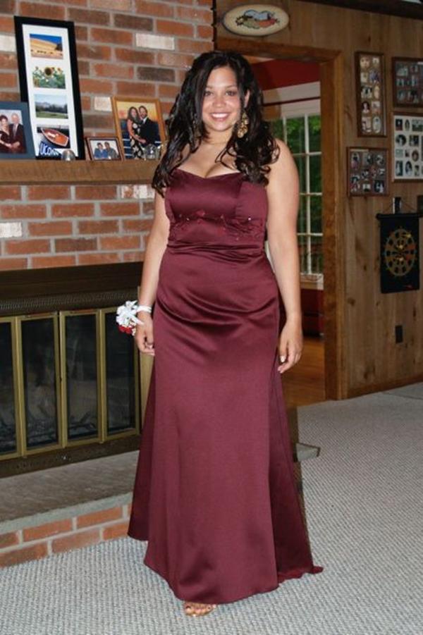 Emily Abbate nặng tới 92 kg khi học đại học.