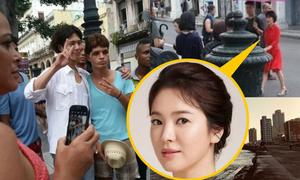 Khán giả Cuba xem Song Hye Kyo, Park Bo Gum đóng phim trên phố