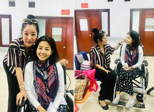 Thúy Nga thăm Mai Phương trong bệnh viện.