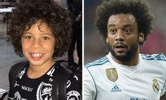 Con trai Marcelo chơi bóng, 'phá' Gary Neville ở sự kiện