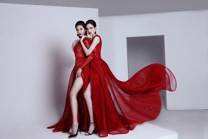 Ngọc Hân và Hoàng Anh từng có thời gian cùng chung một công ty người mẫu nên có mối quan hệ rất thân thiết.