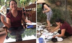 Mẹ giáo huấn con trai, bắt rửa bát phụ con dâu