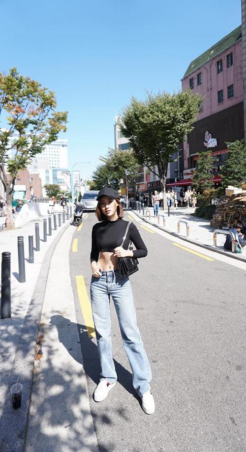 Người đẹp đang có chuyến công tác tại Hàn Quốc.