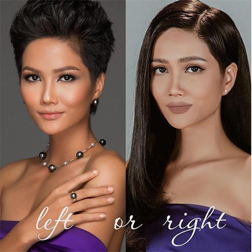 Hoa hậu HHen Niê đăng tải bức ảnh cô biến hóa từ tóc ngắn cá tính sang tóc dài nữ tính và hỏi fan thích phong cách nào hơn?