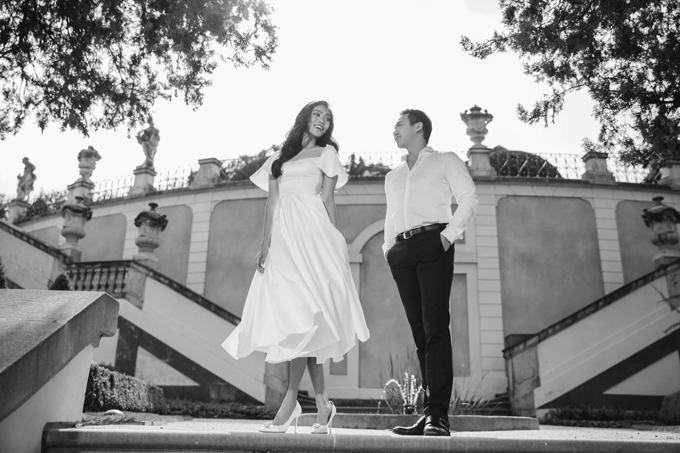 Ảnh cưới của Lan Khuê và John Tuấn Nguyễn được thực hiện tại Paris, Pháp.