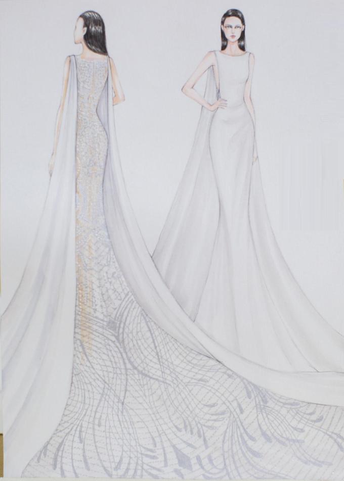 Lan Khuê là mỹ nhân Việt đầu tiên chọn váy cưới lưng xuyên thấu
