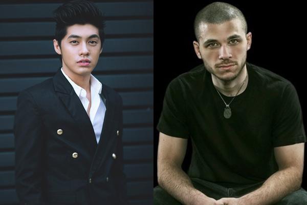 Noo Phước Thịnh và nhạc sĩ người Mỹ Zack Hemsey (phải).