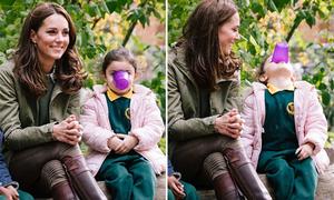 Kate đi đôi bốt hơn một thập kỷ, trở lại công việc sau khi sinh Louis