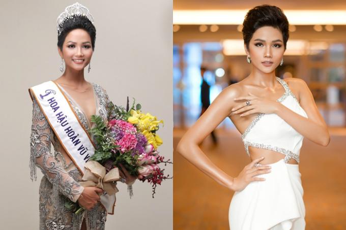 HHen Niê giành vương miện Hoa hậu Hoàn vũ Việt Nam 2017 và dự thi Miss Universe ở Thái Lan. Cô 26 tuổi, cao 1,72m, có mái tóc tém và làn da nâu nổi bậtso với nhiều đẹp Việt khác.