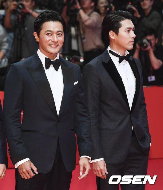 Jang Dong Gun bên đàn em Hyun Bin.