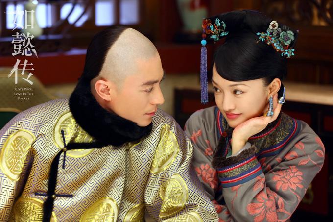 Hoắc Kiến Hoa vai Càn Long và Châu Tấn vai hoàng hậu Như Ý. Ảnh: Sina