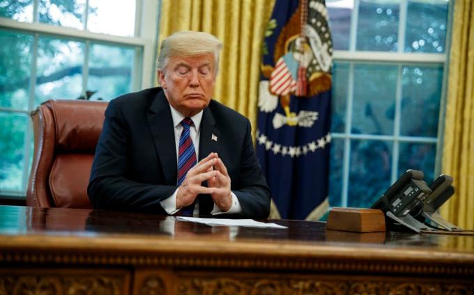 Donald Trump điều hành nước Mỹ từ tháng 1/2017. Ảnh:Telegraph.