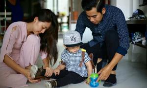Ngọc Lan: 'Ngày đầu con đi học mẹ hồi hộp đến stress'