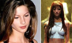 Gisele Bundchen đã khóc khi bị ép để ngực trần diễn catwalk