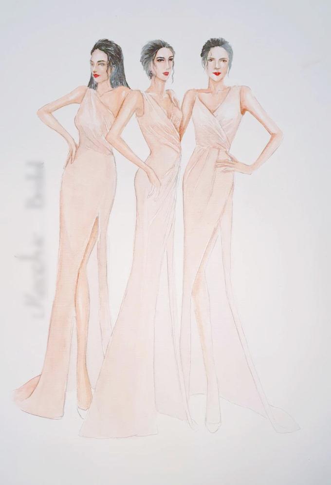Lưu ý khi chọn váy phong cách Hy Lạp giống dàn phù dâu của Lan Khuê