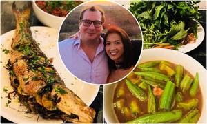 Những mâm cơm cá kho, thịt rim Bằng Lăng nấu cho chồng con trên đất Mỹ