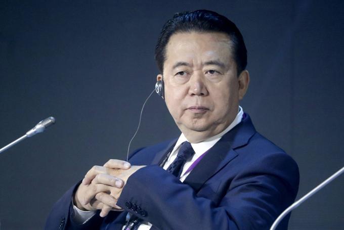 Chủ tịch Interpol Mạnh Hoành Vĩ. Ảnh: AFP.
