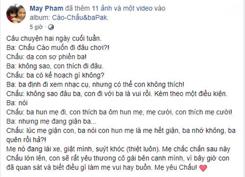 Cuộc đối thoại giữa Phạm Anh Khoa và con trai.