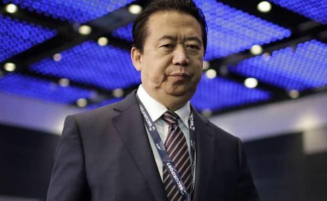 Ông Mạnh Hoành Vĩ tham dự hội nghị Thế giới Interpol 2017 tại Singapore. Ảnh: AP.