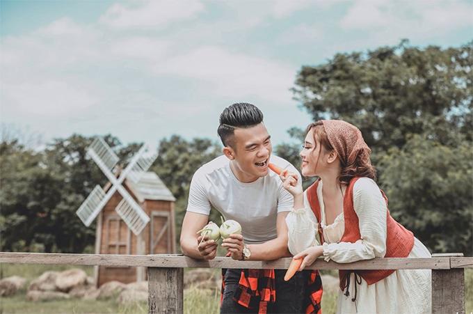 Một bức ảnh cưới của Hoàng Thịnh và cô dâu Ánh Nguyệt. Ảnh: FB.