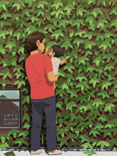 Cho con chạm tay vào những chiếc lá bởi mọi thứ đều mới mẻ với con.