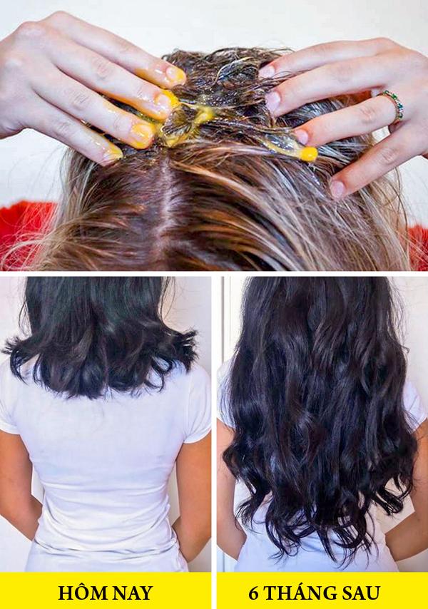 Để kích thích tóc mọc nhanh hơn, hãy sử dụng mặt nạ gồm 1 lòng trắng trứng, 2 thìa dầu castro và 1 thìa mật ong để ủ tóc. Áp dụng liệu pháp này khoảng 2 lần mỗi tuần, bạn sẽ thấy tóc mọc nhanh hơn.