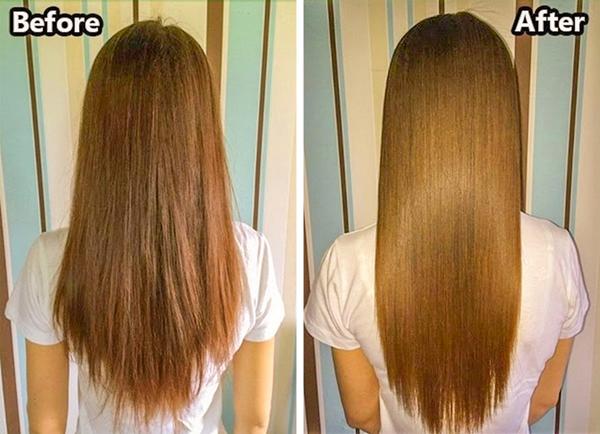 Với mái tóc yếu, chẻ ngọn, bạn có thể học các chuyên gia tạo kiểu tóc gội đầu với dầu xả trước, dầu gội sau để tăng cường hiệu quả dưỡng tóc. Dầu xả chỉ nên thoa ở 1/2 đuôi tóc còn gội dầu chỉ dùng để massage da đầu nhẹ nhàng.