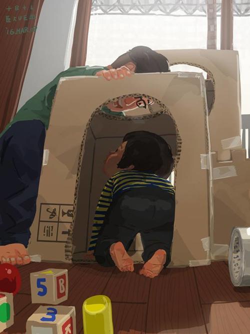 Tự làm tòa lâu đài đồ chơi cho con bằng thùng các tông.