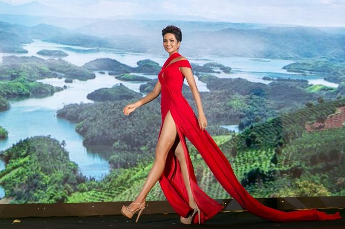HHen Niê diện váy ôm khoe vòng ba 97cm nhờ tập luyện - 6
