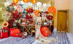 Cô dâu Sài Thành tái hiện phố cổ Trung Hoa trong lễ cưới