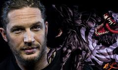 Tom Hardy treo người trên cao đóng đại cảnh của 'Venom'