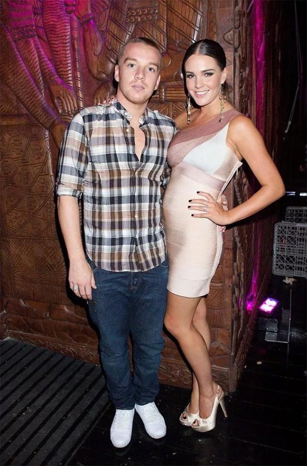 Jamie OHara và Danielle Lloyd khi còn mặn nồng. Ảnh: RF.