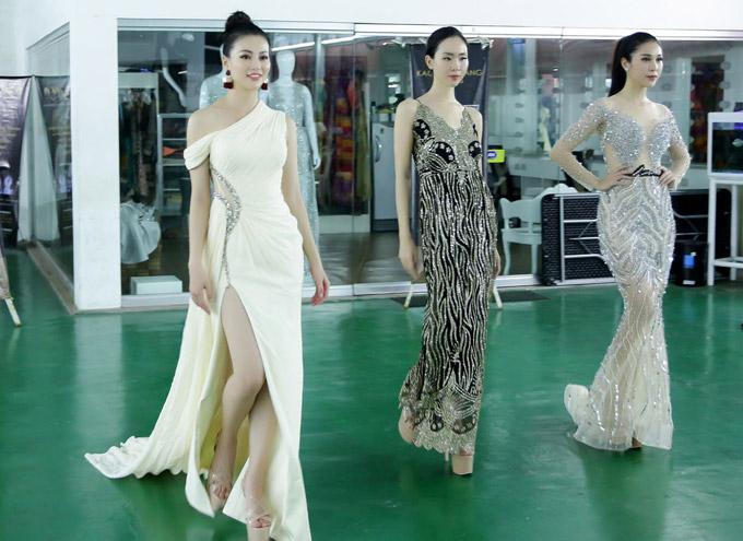 Á hậu Phương Khánh mặc bikini khi tập catwalk thi Miss Earth - 6