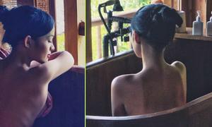 'Mẹ đơn thân' Thanh Trúc táo bạo bán nude khi du lịch
