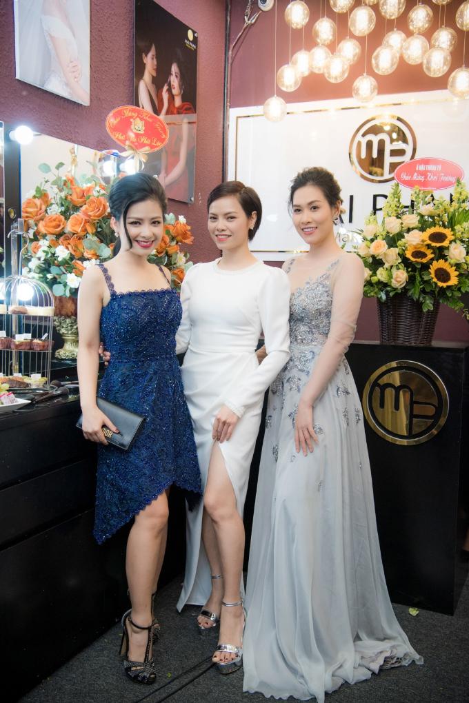 Hoa hậu Ngọc Hân, Á hậu Hoàng Anh dự khai trương MaiPhan Makeup Artist - 4