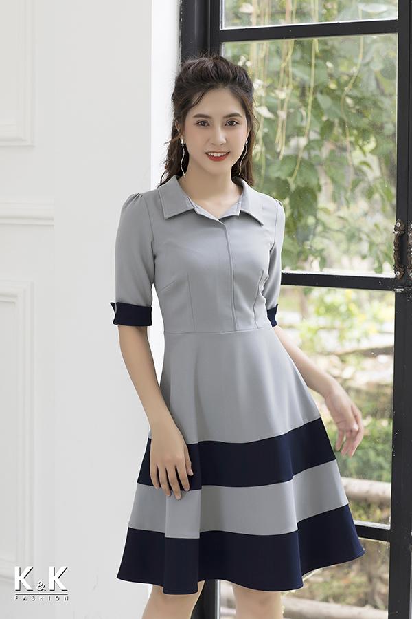 Đầm xòe tay lỡ xinh xắn KK77-28; Giá gốc: 420.000 VND off 50% - Giá sale: 210.000 VND