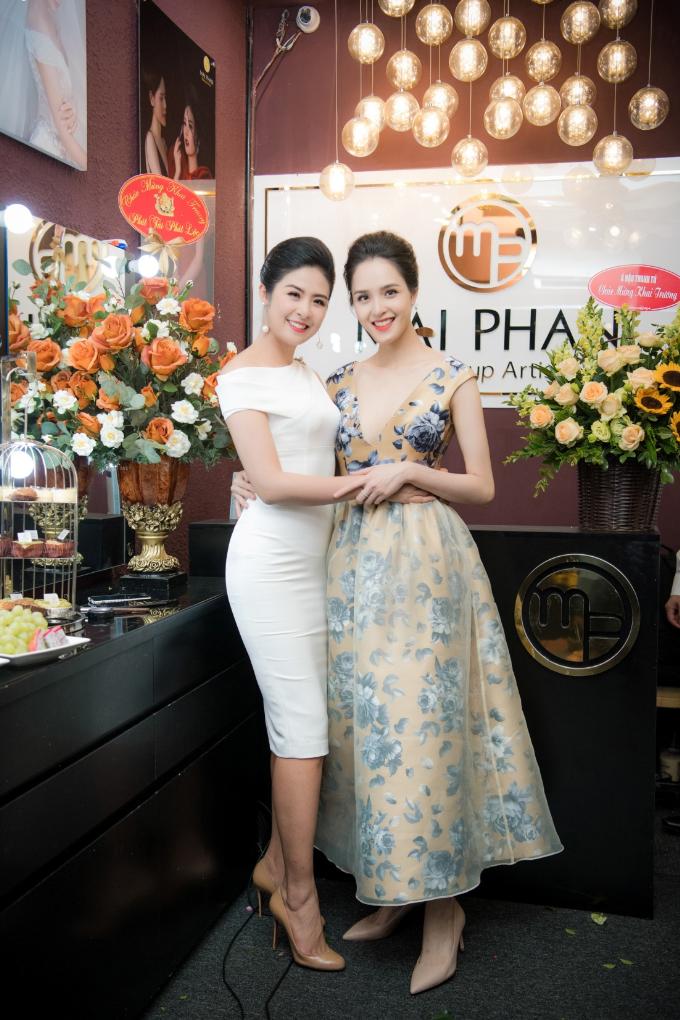 Hoa hậu Ngọc Hân, Á hậu Hoàng Anh dự khai trương MaiPhan Makeup Artist - 1