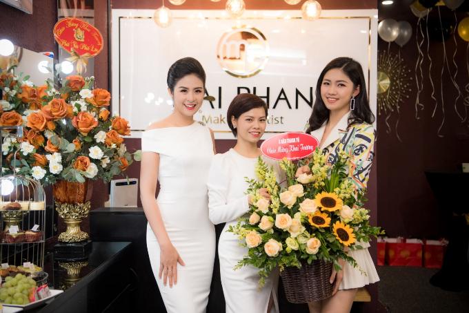 Hoa hậu Ngọc Hân, Á hậu Hoàng Anh dự khai trương MaiPhan Makeup Artist - 7