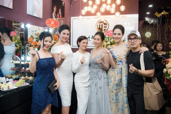 Hoa hậu Ngọc Hân, Á hậu Hoàng Anh dự khai trương MaiPhan Makeup Artist - 9