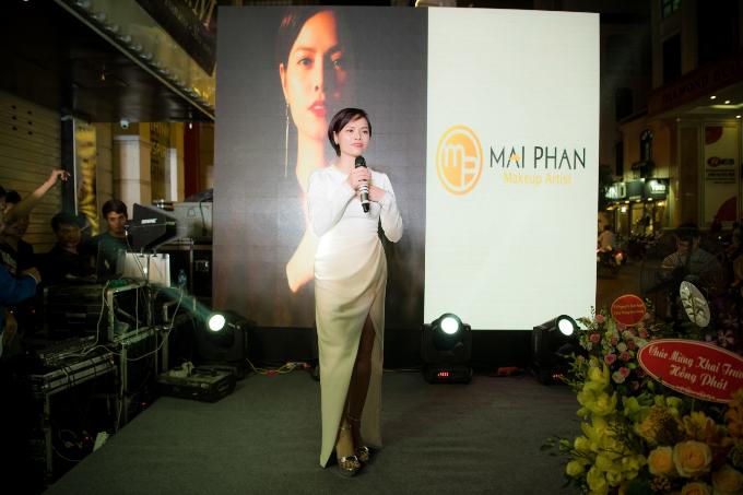 Hoa hậu Ngọc Hân, Á hậu Hoàng Anh dự khai trương MaiPhan Makeup Artist - 8