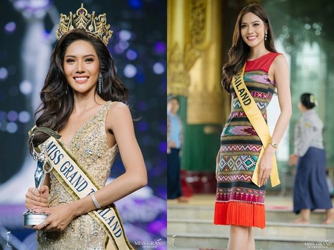Hoa hậu Hòa bình Quốc tế là một trong 5 cuộc thi nhan sắc lớn và uy tín nhất thế giới, đang diễn ra tại Myanmar và thu hút 90 thí sinh tham gia. Nổi bật trong số đó là Hoa hậu Thái Lan -Moss Namoey Chanaphan, 24 tuổi và cao 1,8m. Cô hiện là mộtgiáo viên dạy tiếng Anh