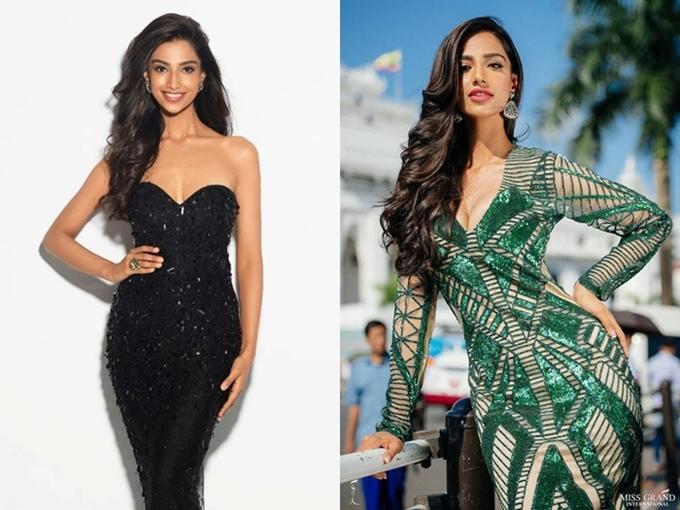 Ấn Độ chưa từng đăng quang Hoa hậu Hòa bình Quốc tế. Nhiều khán giả đặt kỳ vọng vào đại diện năm nay của Ấn Độ - người đẹp Meenakshi Chaudhary. Cô 21 tuổi, cao 1,72m và đang theo học Nha khoa.